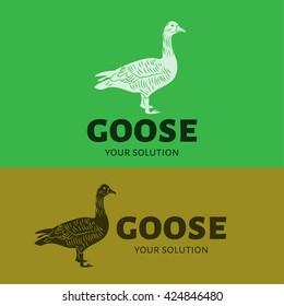 Goose vector logo. Brand logo in the form of a goose.