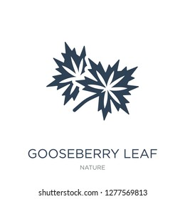 gooseberry leaf icon vector on white background, gooseberry leaf trendy filled icons from Nature collection, gooseberry leaf vector illustration