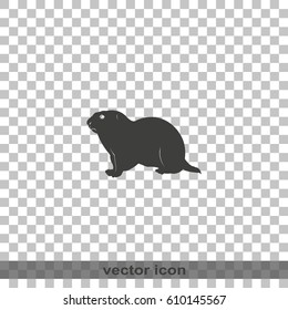 Gopher silhouette icon.