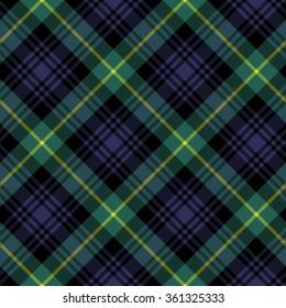 gordon tartan fabric textile check pattern seamless.Vector illustration. EPS 10. No transparency. No gradients.