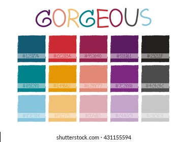 Gorgeous Color Tone with Code Vector Illustration
