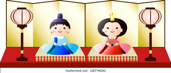 Gorgeous Gradation Japanese Hina dolls