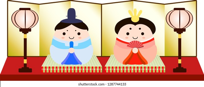 Gorgeous Japanese Hina dolls