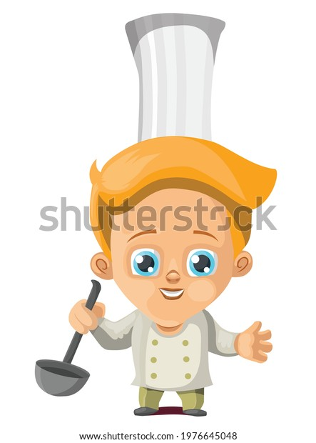 Gorgeous looking chef man illustration.