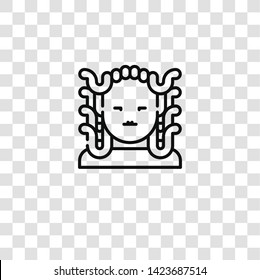 gorgon icon from FANTASTIC CHARACTERS collection for mobile concept and web apps icon. Transparent outline, thin line gorgon icon for website design and mobile, app development