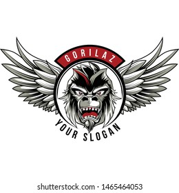 gorila and wing for biker club