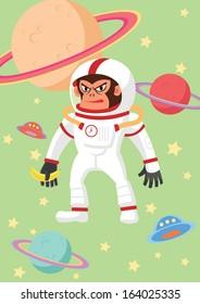 Gorilla astronaut