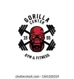 Gorilla center fitness logo template.