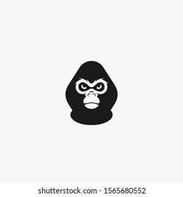 gorilla face logo vector icon illustration