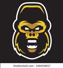 Gorilla face vector.