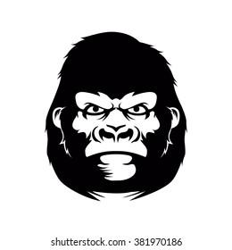 Gorilla face vector logo