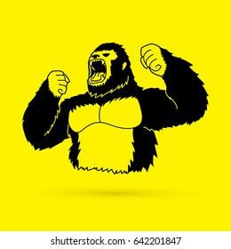 Gorilla graphic vector