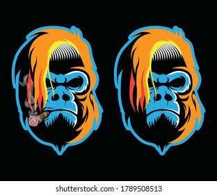 Gorilla Head Esport Logo Set