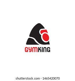 gorilla head and kettlebell gym fitness. Angry king kong face, unique and bold logo design vector icon illustration inspiration
