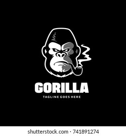 Gorilla Head Logo - King Kong Vector