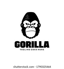 Gorilla head logo - Monkey vector template