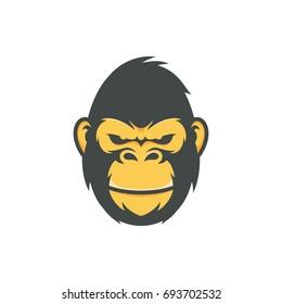 Gorilla head vector graphic illustration
