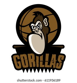 Gorilla icon, emblems, labels and logo