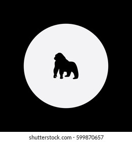 Gorilla icon silhouette vector illustration