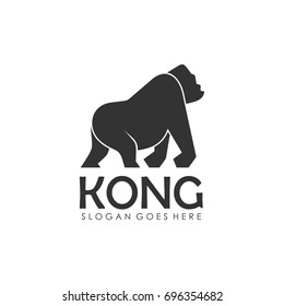 Gorilla and king kong logo design template