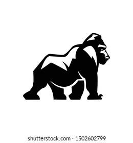Gorilla Logo Design, icon, Vector, illustration
