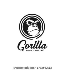 Gorilla Logo Design Template idea