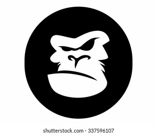 gorilla logo icon vector