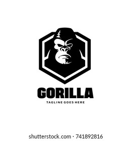 Gorilla Shield Logo - King Kong Vector