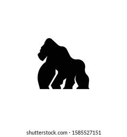 Gorilla sillouette logo icon vector.