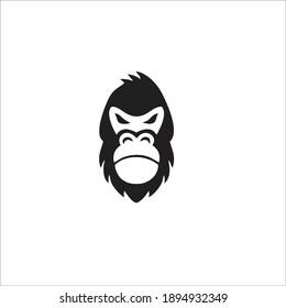 Gorilla Symbol Logo. Vector Illustration.