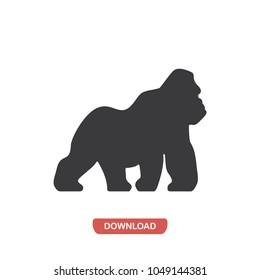 Gorilla vector icon