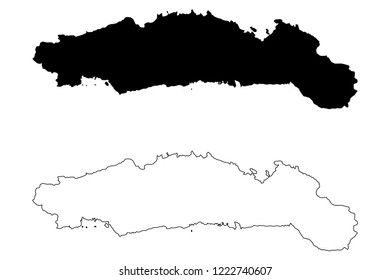 Gorontalo (Subdivisions of Indonesia, Provinces of Indonesia) map vector illustration, scribble sketch Hulontalo map