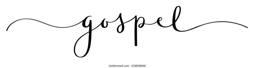 GOSPEL black brush calligraphy banner