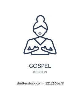 gospel icon. gospel linear symbol design from Religion collection. Simple outline element vector illustration on white background.