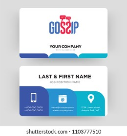 gossip, business card design template, Visiting for your company, Modern Creative and Clean identity Card Vector