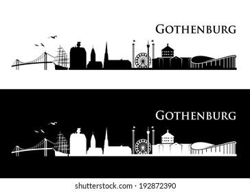 Gothenburg skyline - vector illustration