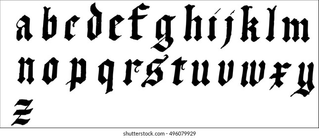 gothic font 3