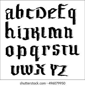 gothic font 8