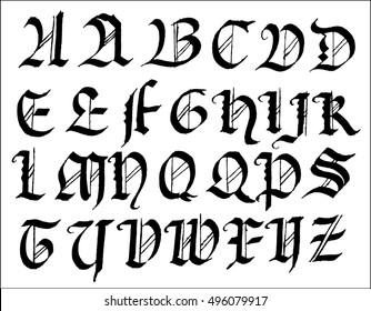 gothic font capitals 2
