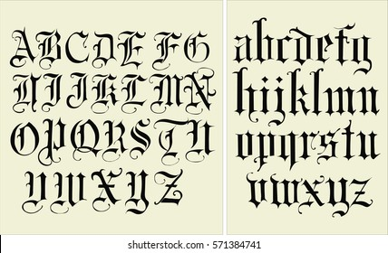 Gothic Font - Hand drawn Vector