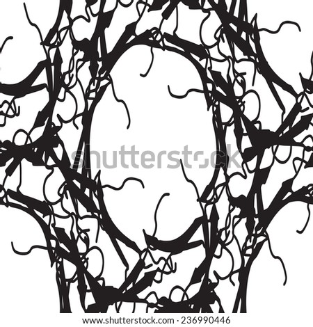 Gothic Frame Seamless Texture Use Create Stock Vector (Royalty Free ...