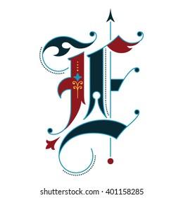 Gothic initial E