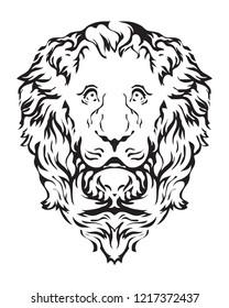gothic lion head. vector image for logo or illustration