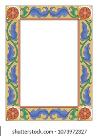 Gothic Manuscript Floral Border