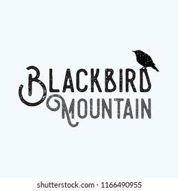 gothic style black raven logo