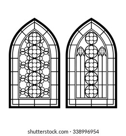 Gothic Windows Vintage Frames Church Stained Glass