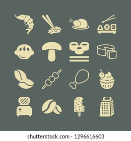 gourmet icon set with toster, cake and coffee beans vector illustration