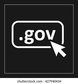 gov domain icon. gov domain vector illustration