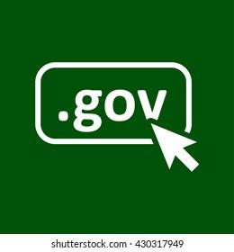 gov icon. gov vector illustration