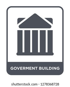 goverment building icon vector on white background, goverment building trendy filled icons from Buildings collection, goverment building vector illustration